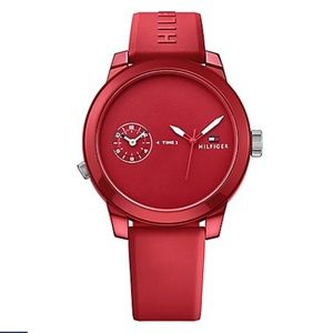 Tommy Hilfiger Red Jelly Watch